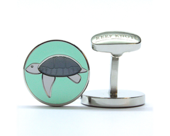 Turtle Enamel Cufflinks