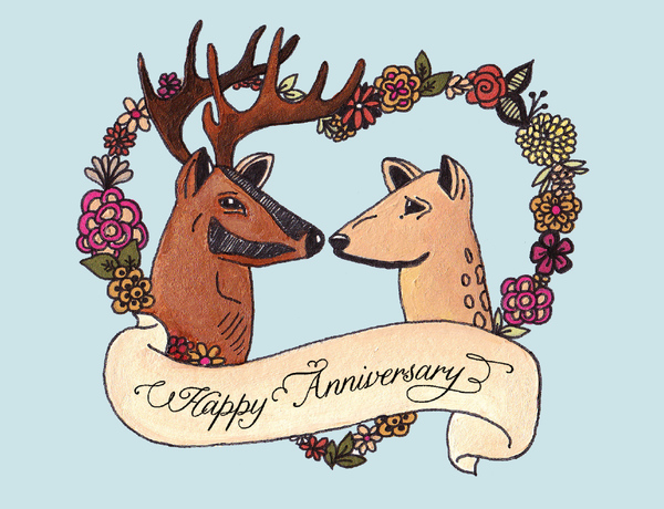 Happy Anniversary, deer