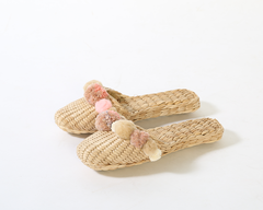 Rose Quartz Pom Pom Slippers