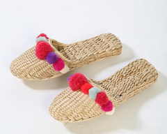 Pop of Pinks Pom Pom Slippers