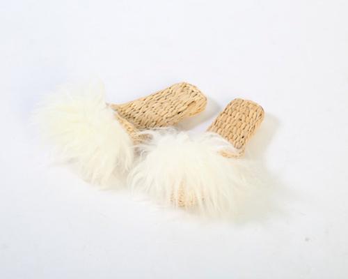 Cream Lamb Fur Slippers