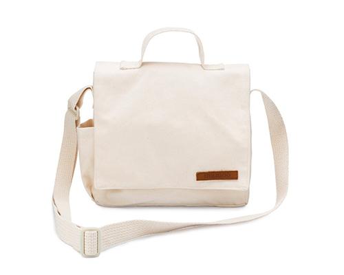 Canvas Crossbody Mini-Messenger Bag
