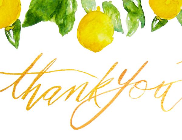 Lemons Thank You Card