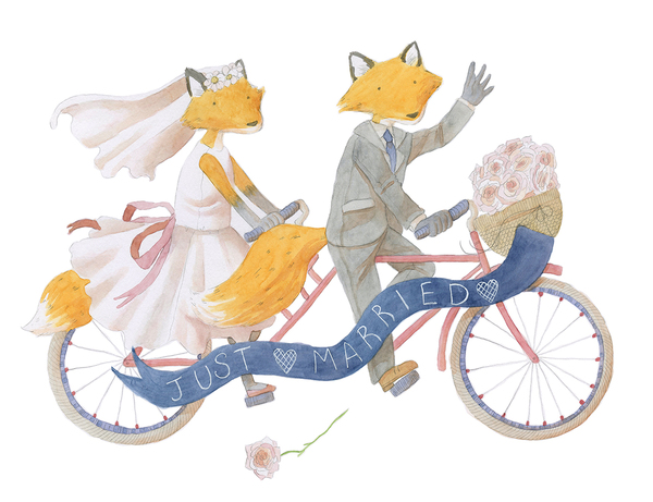 Fox Bride and Groom