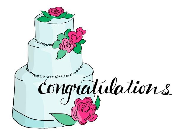 Congratulations Wedding Cake