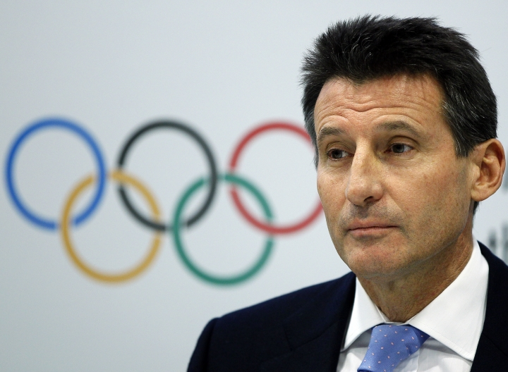 "FILE - In this Nov. 19, 2010 file photo Sebastian Coe, then Chair of the London 2012 Organizing Committee at the IOC Coordination Commission pauses during the closing press conference in London at the close of a three-day visit by IOC officials checking on preparations for the 2012 Olympic games in London. Entrusted with cleaning up a sport mired in sleaze and doping deceptions has proved far trickier for Coe than the pursuit of gold on the track. It's a year since Coe's misguided pronouncement that Lamine Diack, his predecessor as president of the International Association of Athletics Federation, was the ""spiritual leader"" of athletics. (AP Photo/Kirsty Wigglesworth, File)"