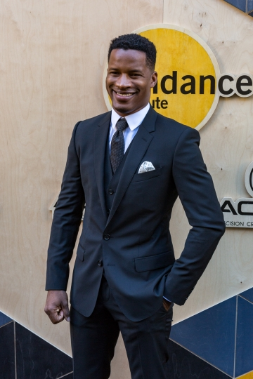 Nate Parker arrives at the Sundance NIGHT BEFORE NEXT Benefit at The Theatre at Ace Hotel on Thursday, Aug. 11, 2016, in Los Angeles. (Photo by Willy Sanjuan/Invision/AP)