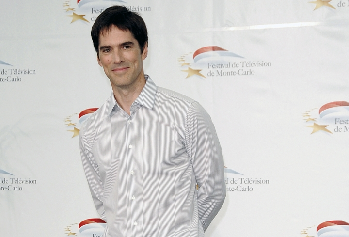 "FILE- In this June 8, 2011, file photo, actor Thomas Gibson attends the 51st Monaco Television Festival in Monte Carlo, Monaco. Gibson has been dismissed from the long-running CBS drama ""Criminal Minds."" ABC Studios and CBS Television Studios, which produce the series, made the announcement Friday, Aug. 12, 2016, with no further details. (AP Photo/Christian Alminana, File)"