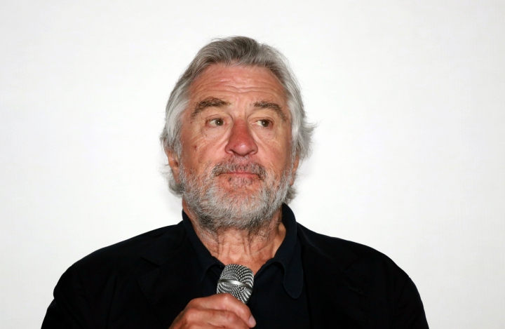 "US actor Robert De Niro pauses as he speaks after receiving an award, at the Sarajevo Film Festival in Sarajevo, Bosnia, Friday, Aug. 12, 2016. Robert De Niro opened the 22nd Sarajevo Film Festival on Friday, presented Martin Scorsese's restored ""Taxi Driver"" and received the festival's first lifetime achievement award ""The Heart of Sarajevo. (AP Photo)"