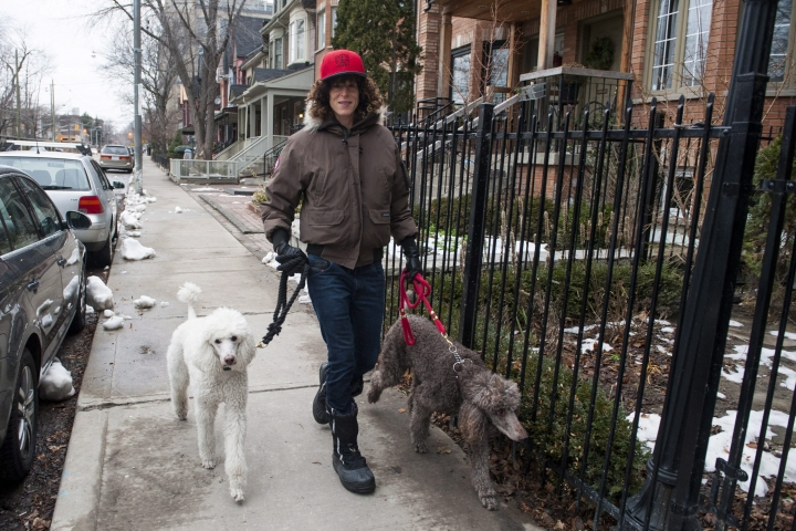 FILE - In this Dec. 31, 2015, file photo, Andrea Constand walks her dogs in Toronto, Canada. On Monday, Aug. 15, 2016, the 3rd U.S. Circuit Court of Appeals in Philadelphia rejected Bill Cosby's effort to reseal his deposition testimony about extramarital affairs, prescription sedatives and payments to women, ruling the request was moot because contents of the documents are now public knowledge. Cosby gave the testimony in 2005 as part of a lawsuit brought against him by Andrea Constand, a Temple University employee who said he drugged and molested her at his home. (Marta Iwanek/The Canadian Press via AP, File) MANDATORY CREDIT