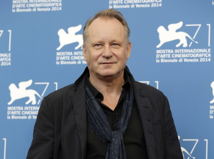 "FILE - In this Sept. 1, 2014 file photo, actor Stellan Skarsgard poses during the photo call for the movie 'Nymphomaniac Vol II' at 71st edition of the Venice Film Festival in Venice, Italy. Skarsgard feels his sons are talented actors, but it's more important to him that they're ""nice people."" While promoting the U.S. release of ""In Order of Disappearance,"" the 65-year old actor spoke proudly that Alexander, Bill, Valter, and Gustaf have gracefully handled the challenge of following in his footsteps while being ""good humans.""(AP Photo/Andrew Medichini, File)"