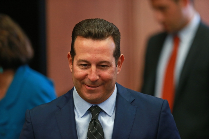 Attorney Jose Baez, who is representing Aaron Hernandez, the former New England Patriots NFL football player, smiles during Hernandez's pre-trial hearing at Suffolk Superior Court, Tuesday, Aug. 16, 2016, in Boston.. Judge Jeffrey Locke has set a trial date in February for Hernandez in a double murder case against him. Hernandez. who is already is serving a life sentence for the 2013 killing of Odin Lloyd, recently hired a new legal team, including Jose Baez, who successfully defended Casey Anthony in her 2011 trial in the death of her daughter. (Matt West/The Boston Herald via AP, Pool)