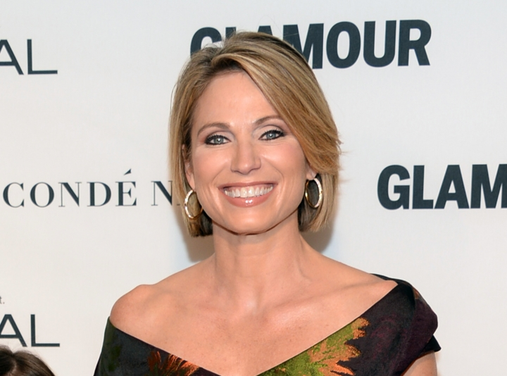 "FILE - In this Nov. 9, 2015 file photo, Amy Robach attends the 25th Annual Glamour Women of the Year Awards in New York. Robach has apologized for using a term for African Americans on Monday's broadcast of the ABC program. After the broadcast, Robach released a statement explaining she had meant to say ""people of color."" She called the incident ""a mistake"" and ""not at all a reflection of how I feel or speak in my everyday life."" (Photo by Evan Agostini/Invision/AP, File)"