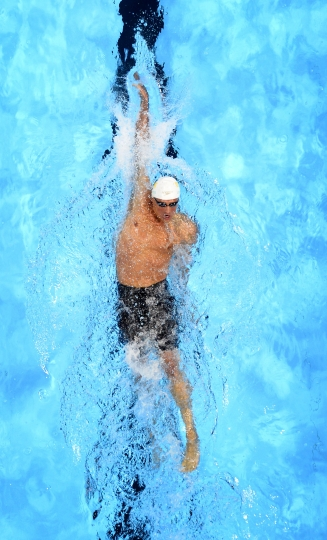 FILE - In this Sunday, June 26, 2016, file photo, Ryan Lochte swims during a preliminary heat in the Men's 400-meter individual medley at the U.S. Olympic swimming trials, in Omaha, Neb. Speedo announced Monday, Aug. 22, 2016, that they are dropping their sponsorship of Lochte. The swimsuit maker says that it doesn't condone behavior that is counter to its values. Lochte fabricated a tale that he was robbed at gunpoint in Rio de Janeiro during the Olympics. He later apologized. (AP Photo/Mark J. Terrill, File)