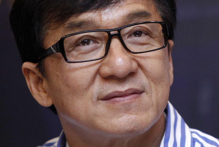 "FILE - In this Dec. 18, 2013, file photo, Hong Kong actor Jackie Chan listens to a question during a news conference to promote his new film ""Police Story 2013"" in Kuala Lumpur, Malaysia. Chan, film editor Anne V. Coates, casting director Lynn Stalmaster and documentarian Frederick Wiseman are getting Oscars. The film academy announced Thursday, Sept. 1, 2016, that the four industry veterans will receive Oscar statuettes at the annual Governors Awards ceremony in November. (AP Photo/Lai Seng Sin, File)"