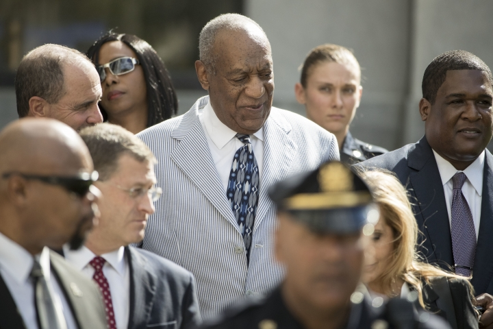 Bill Cosby departs after a pretrial hearing in his sexual assault case at the Montgomery County Courthouse in Norristown, Pa., Tuesday, Sept. 6, 2016. (AP Photo/Matt Rourke)