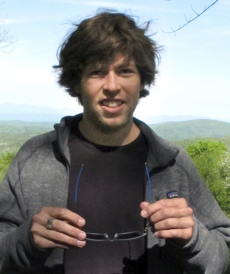 """FILE - In this May 26, 2016 file photo, former world-class snowboarder Kevin Pearce poses for a photo at a retreat in Lincoln, Vt., hosted by the Love Your Brain Foundation, started by Pearce and his brother. A near-fatal halfpipe crash while training for the 2010 Olympics ended Pearce's snowboarding career. The Love Your Brain Foundation filed a federal lawsuit in August 2016 against the Epilepsy Foundation of Greater Los Angeles, claiming it has been using the term """"Love Your Brain, trademarked by the Love Your Brain Foundation. (AP Photo/Lisa Rathke, File)"""
