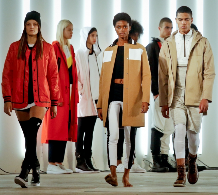 Fashion from the UAS collection from Under Armour and Tim Coppens is modeled during Fashion Week, Thursday Sept. 15, 2016, in New York. (AP Photo/Bebeto Matthews)