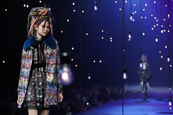 The Marc Jacobs Spring 2017 collection is modeled during Fashion Week in New York, Thursday, Sept. 15, 2016, in New York. (AP Photo/Mary Altaffer)