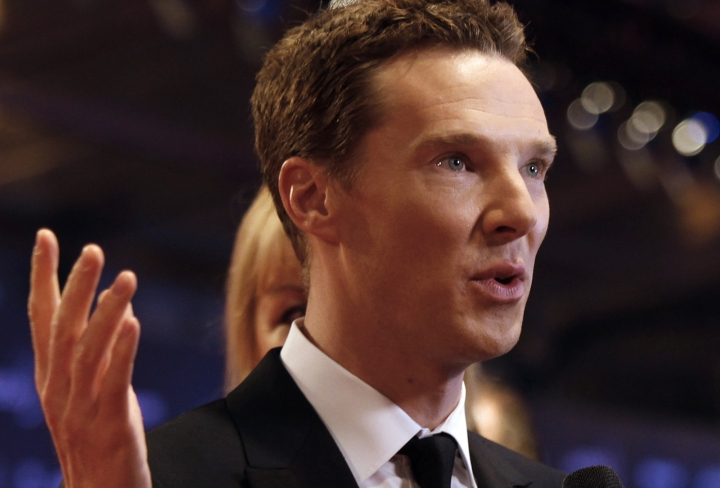 "FILE - In this file photo dated Wednesday, April 15, 2015, British actor Benedict Cumberbatch arrives to host the Laureus World Sports Awards in Shanghai, China. The first of three new episodes of ""Sherlock"" will be broadcast Sunday Jan. 1, 2017, on BBC TV in Britain, with Cumberbatch once again taking on the role of the brilliant, demanding detective Sherlock Holmes. (AP Photo, FILE)"