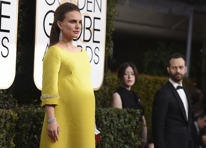 Natalie Portman arrives at the 74th annual Golden Globe Awards at the Beverly Hilton Hotel on Sunday, Jan. 8, 2017, in Beverly Hills, Calif. (Photo by Jordan Strauss/Invision/AP)