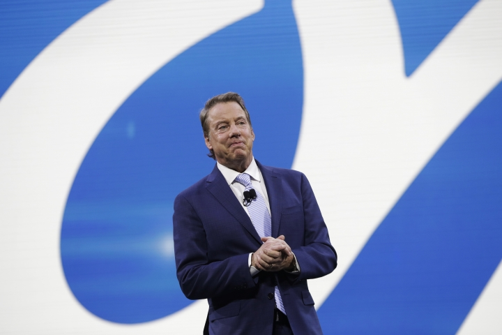 Ford Motor Co. Executive Chairman Bill Ford addresses the North American International Auto show, Monday, Jan. 9, 2017, in Detroit. (AP Photo/Carlos Osorio)