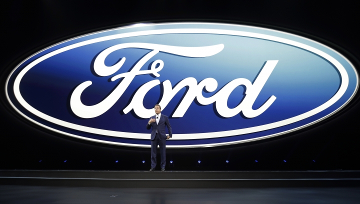 Ford Motor Co. Executive Chairman Bill Ford speaks at the North American International Auto show, Monday, Jan. 9, 2017, in Detroit. (AP Photo/Carlos Osorio)