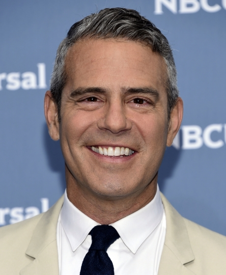 """FILE - This May 16, 2016 file photo shows Andy Cohen at the NBCUniversal 2016 Upfront Presentation in New York. Cohen appeared at the 2017 Winter Television Critics Association press tour on Tuesday, Jan. 17, 2017, in Pasadena, Calif., and answered questions about his Bravo TV talk show, """"Watch What Happens Live."""" (Photo by Evan Agostini/Invision/AP, File)"""