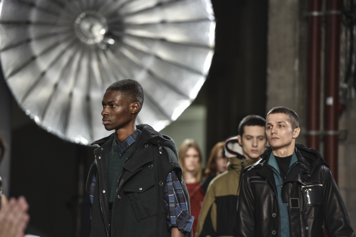 Models wear creations as part of Lanvin's Men's Fall/Winter 2017-2018 fashion collection, presented in Paris, Sunday, Jan. 22, 2017.(AP Photo/Zacharie Scheurer)