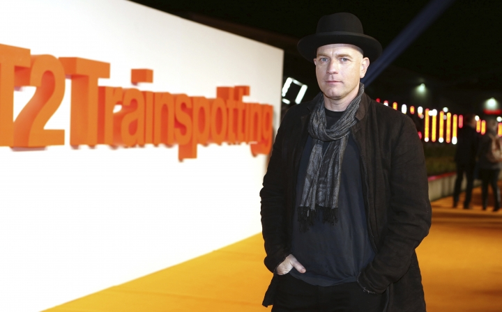 FILE - In this Sunday, Jan. 22, 2017 file photo, actor Ewan McGregor poses for photographers at the World Premiere of the film 'T2 Trainspotting', in Edinburgh. Actor Ewan McGregor was a last minute no-show on the Good Morning Britain television show on Tuesday Jan. 24, 2017, because of a dispute with host Piers Morgan over recent women's marches. (Photo by Mark Mainz/Invision/AP, File)