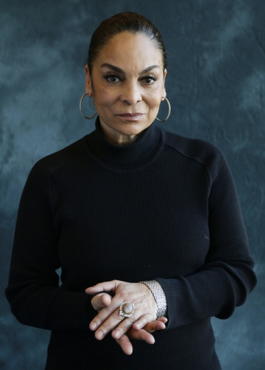 """This Jan. 19, 2017, photo shows actress Jasmine Guy in New York to promote her BET drama """"The Quad."""" The series premieres Wednesday, Feb. 1. (AP Photo/Peter Morgan)"""