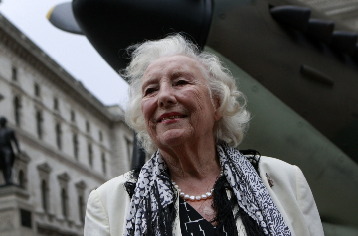 "FILE - In this Friday Aug. 20, 2010 file photo, Dame Vera Lynn attends a ceremony to mark the 70th anniversary of the Battle of Britain. in central London. Singer Vera Lynn is making plans to mark her 100th birthday with the release of a new album featuring many of her (very) old classics. The songstress said Thursday Feb. 2, 2017, it's ""truly humbling that people still enjoy these songs from so many years ago."" (AP Photo/Lefteris Pitarakis, File)"