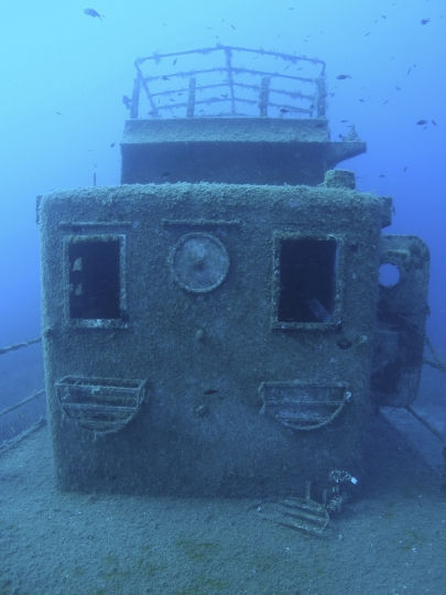 This undated picture provided on Monday, Feb. 13, 2017 by the Albanian National Coastline Agency shows a shipwreck discovered by the RPM's Hercules research vessel in Ionian Sea, Albania. The country is promoting the archaeological finds in the waters off its southwest coast to raise public interest and to attract attention of decision-makers who can help preserve the discoveries. The Albanian National Coastline Agency opened an exhibition on Monday, Feb. 13 of 30 pictures showing underwater finds of potential archaeological significance from the last decade. (The Albanian National Coastline Agency via AP)