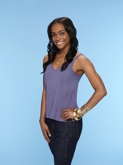 "This image provided by ABC shows Rachel Lindsay, who ABC named as its first black woman to be the ""Bachelorette"" for the 13th season of ""The Bachelor"" spinoff. The announcement came Monday, Feb. 13, 2017, on ABC's ""Jimmy Kimmel Live."" (Mitch Haaseth/ABC via AP)"