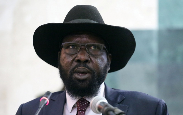 South Sudan's President Salva Kiir addresses the second session of the Transitional Government of National Unity (TGoNU) at the Parliament in South Sudan's capital Juba, February 21, 2017. REUTERS/Jok Solomon