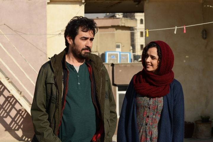 """This image released by Cohen Media group shows Shahab Hosseini, left, and Taraneh Alidoosti in a scene from """"The Salesman."""" The film is nominated for an Oscar for best foreign language film. The 89th Academy Awards will take place on Feb. 26. (Cohen Media Group via AP)"""