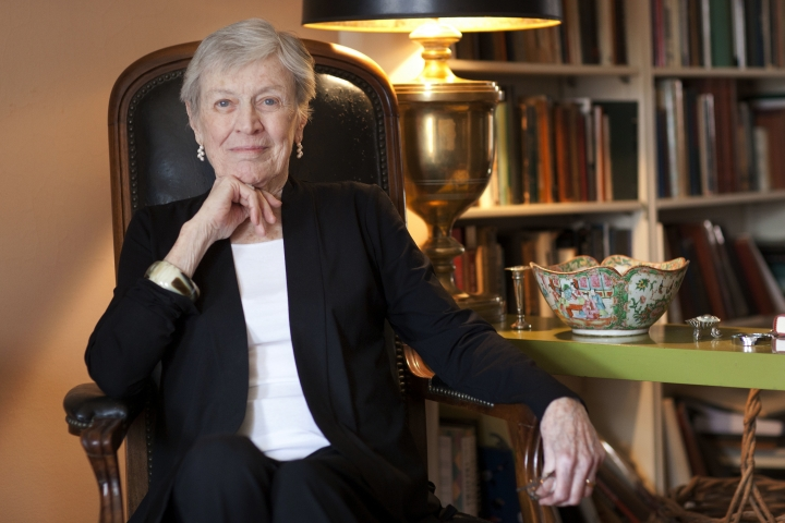 "FILE - In this March 24, 2011 photo, author Paula Fox poses for a portrait in New York. Fox, known for the novels ""Desperate Characters"" and ""Poor George"" and the memoir ""Borrowed Finery."" died Wednesday, March 1, 2017, at Brooklyn Methodist Hospital. She was 93 and had been in failing health. (AP Photo/Victoria Will, File)"