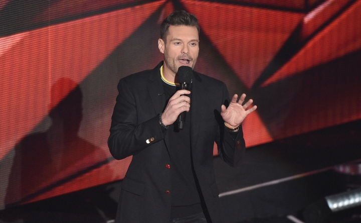 Ryan Seacrest speaks on stage during the iHeartRadio Music Awards at the Forum on Sunday, March 5, 2017, in Inglewood, Calif. (Photo by Chris Pizzello/Invision/AP)