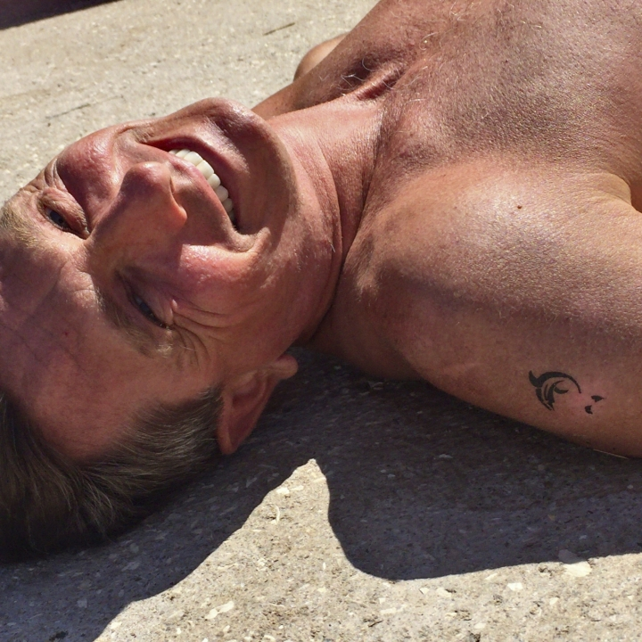 In this undated photo provided by the Office of the Slovenia's president and used on president's Instagram, Slovenia's president Borut Pahor, enjoys sunbathing on a beach in Pacug, Slovenia. Donald Trump may rule Twitter, but he's no match for his Slovenian counterpart on Instagram as Slovenia's president Borut Pahor has been actively using social media to get his message across since 2012. (Petra Arsic/Office of the Slovenia's President via AP)