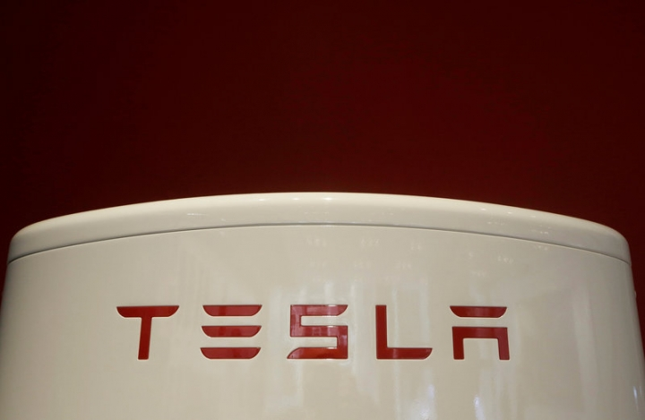 A Tesla supercharger is pictured at the Tesla store in Sydney, Australia, March 13, 2017.    REUTERS/Jason Reed