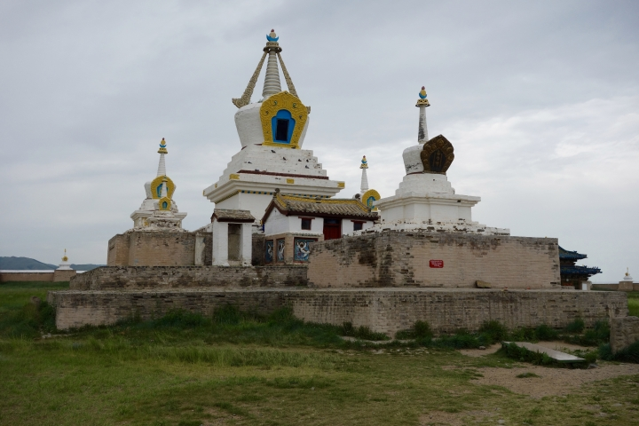 """This July 8, 2016 photo shows the """"Golden Stupa"""" at Erdene Zuu Monastery located in Kharkhorin, on the northern border of the Ovorkhangai province, Mongolia. (AP Photo/Nicole Evatt)"""