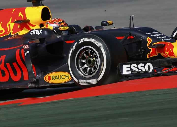FILE- In this file photo dated Thursday, March 2, 2017, Red Bull driver Max Verstappen of the Netherlands during a Formula One pre-season testing session at the Catalunya racetrack in Montmelo, outside Barcelona, Spain. Max Verstappen no longer has the element of surprise, and all eyes will be on the Dutch sensation when the Formula One season gets underway in Australia next weekend. (AP Photo/Francisco Seco, FILE)