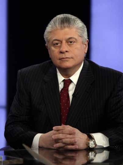 "FILE- In this April 11, 2011, file photo, Andrew Napolitano appears on the ""Varney & Co."" program on the Fox Business Network, in New York. Fox News Channel has pulled legal analyst Napolitano from the air after disavowing his on-air claim that British intelligence officials had helped former President Barack Obama spy on Donald Trump. The move was first reported by The Los Angeles Times on Monday, March 20, 2017. (AP Photo/Richard Drew, File)"