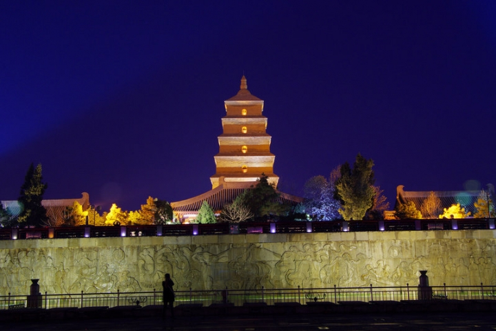 Dayan Pagoda is seen before Earth Hour in Xi'an, Shaanxi province, China, March 25, 2017. Picture taken March 25, 2017. REUTERS/Stringer