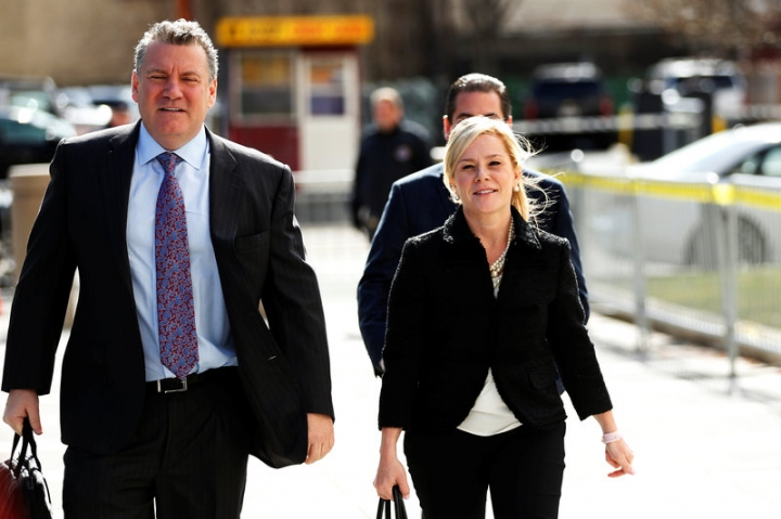 Bridget Anne Kelly, former deputy chief of staff to New Jersey Governor Chris Christie, arrives for her sentencing in the Bridgegate trial at the Federal Courthouse in Newark, New Jersey, U.S., March 29, 2017.  REUTERS/Lucas Jackson