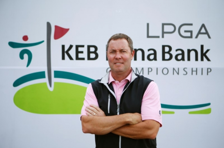 Michael Whan, commissioner of the LPGA, during an interview with Reuters.    REUTERS/Kim Hong-Ji