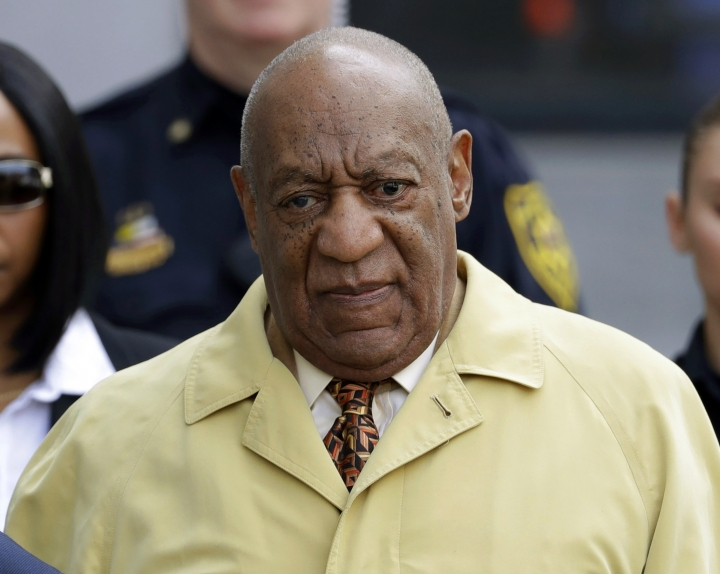 "FILE - In this Feb. 27, 2017, file photo, Bill Cosby departs after a pretrial hearing in his sexual assault case at the Montgomery County Courthouse in Norristown, Pa. Prosecutors hoping to use Bill Cosby's explosive deposition testimony about getting quaaludes to give women in his sexual-assault trial also want to use references he made about trying to slip women the aphrodisiac Spanish fly. In a court filing Thursday, March 30, 2017, they quote Cosby making Spanish fly references in his 1991 book ""Childhood"" and in an interview that year with Larry King. They say the comments show his familiarity with date rape drugs. (AP Photo/Matt Slocum, File)"