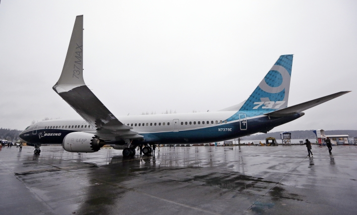 FILE -- In this March 7, 2017 file photo, the first of the large Boeing 737 MAX 9 models, Boeing's newest commercial airplane, sits outside its production plant, in Renton, Wash. Boeing Co. announced Tuesday, April 4, 2017 that it has signed a new, $3 billion deal with Iran's Aseman Airlines for 30 Boeing 737 MAX aircraft. Chicago-based Boeing said the deal includes purchase rights for an additional 30 737 MAX aircraft. (AP Photo/Elaine Thompson, File )