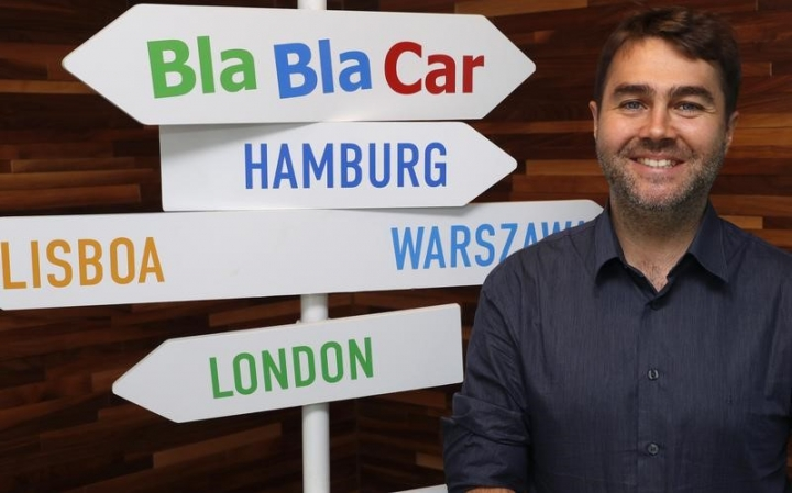 Frederic Mazzella, Founder and Chief Executive Officer of French ride-sharing start-up BlaBlaCar, poses at the company's headquarters in Paris, France, September 28, 2016. REUTERS/Philippe Wojazer