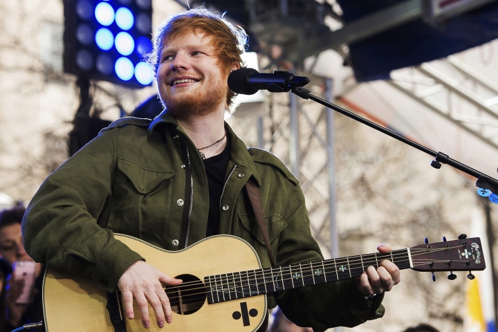 "FILE - In a Wednesday, March 8, 2017 file photo, Ed Sheeran performs on NBC's ""Today"" show, in New York. A federal judge dismissed a copyright infringement lawsuit against Sheeran over his hit ""Photograph"" on Monday, April 10, 2017, after attorneys settled the case for undisclosed terms. Sheeran was sued by a pair of composers who said Sheeran's song copied their song ""Amazing."" (Photo by Charles Sykes/Invision/AP, File)"